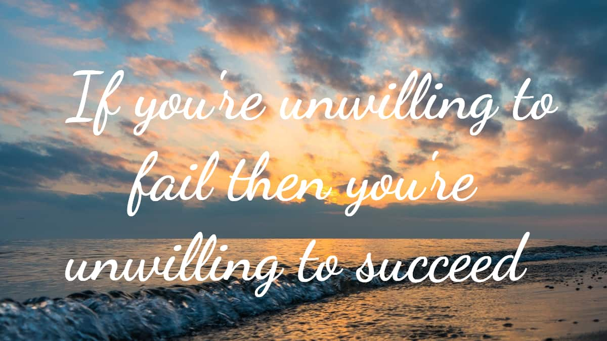 fail to succeed with enthusiasm