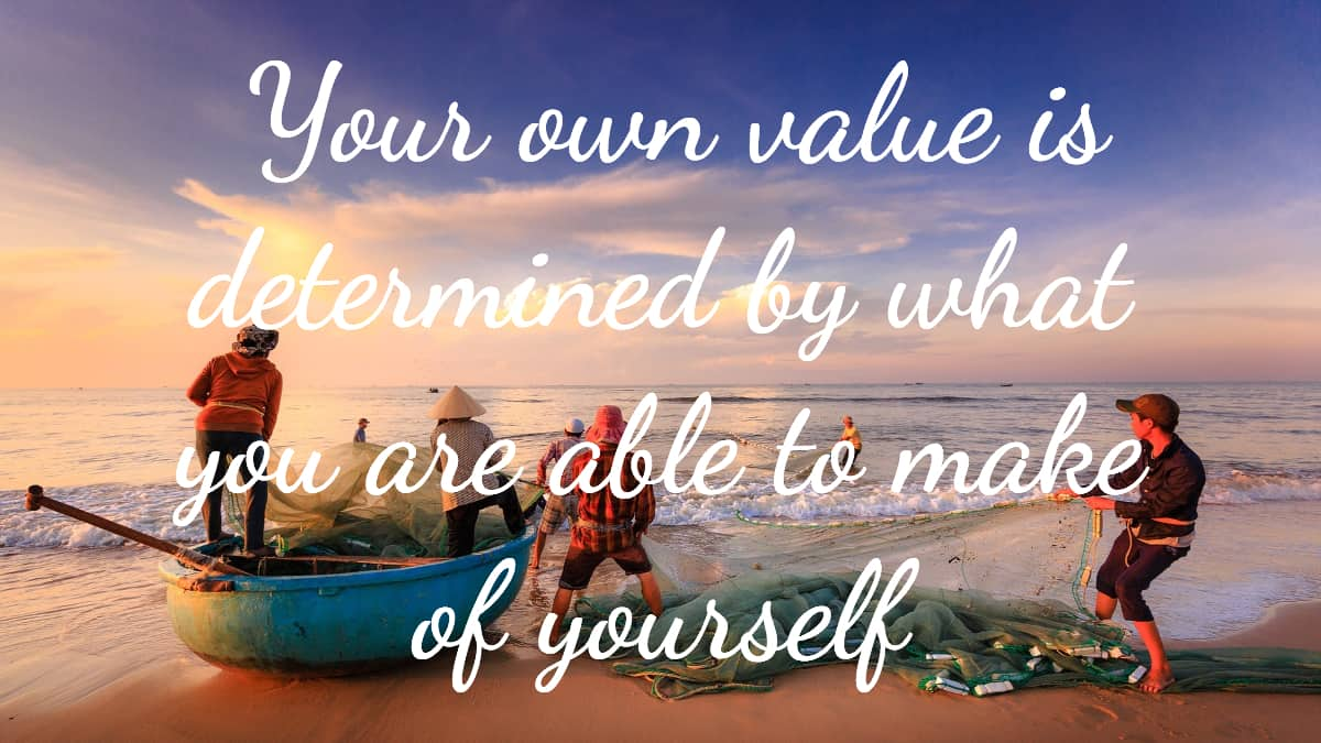 do you value yourself